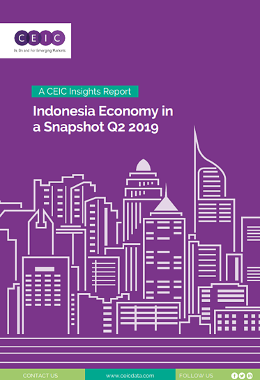 Indonesia reported a 5.1% GDP growth in the first quarter of 2019, a result which mirrored the country's economic performance in Q1 2018 and was slightly below the 2018 average of 5.2%. Exports declined for the first time since Q3 2016, dropping by 2.1%. On the other hand, government consumption growth increased to 5.2%, while household expenditure growth remained almost unchanged at 5%. GDP performance, however, is still far from re-elected President Widodo's target of 7% growth. Indonesia recorded the smallest fiscal deficit in six years, despite financial markets uncertainty and currency depreciation due to capital outflows. The consolidated budget deficit in 2018 was 1.75% of nominal GDP, narrower than the government's original plan of 2.2% and far below the 3% threshold set by law